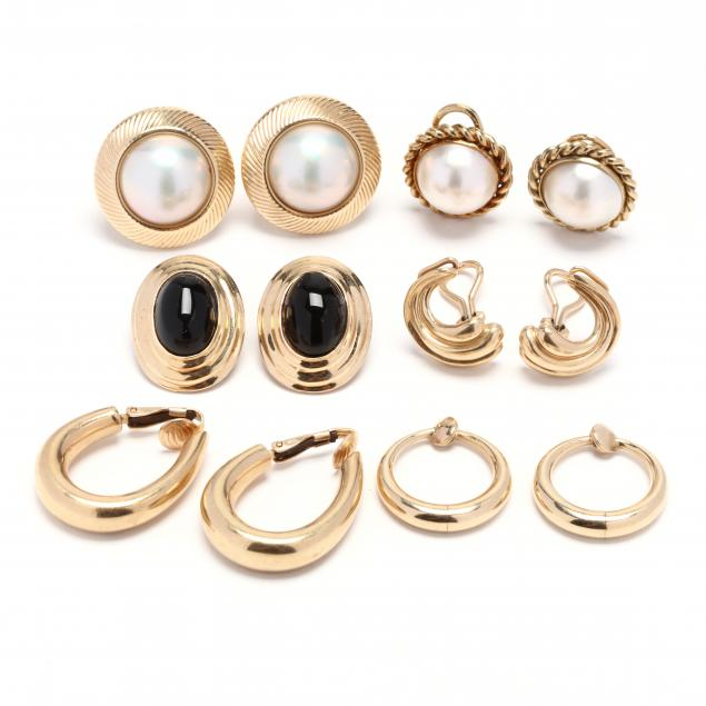 six-pairs-of-14kt-gold-earrings