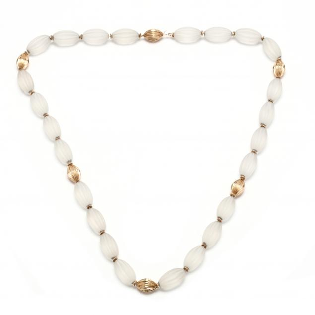 a-gold-and-frosted-rock-crystal-bead-necklace