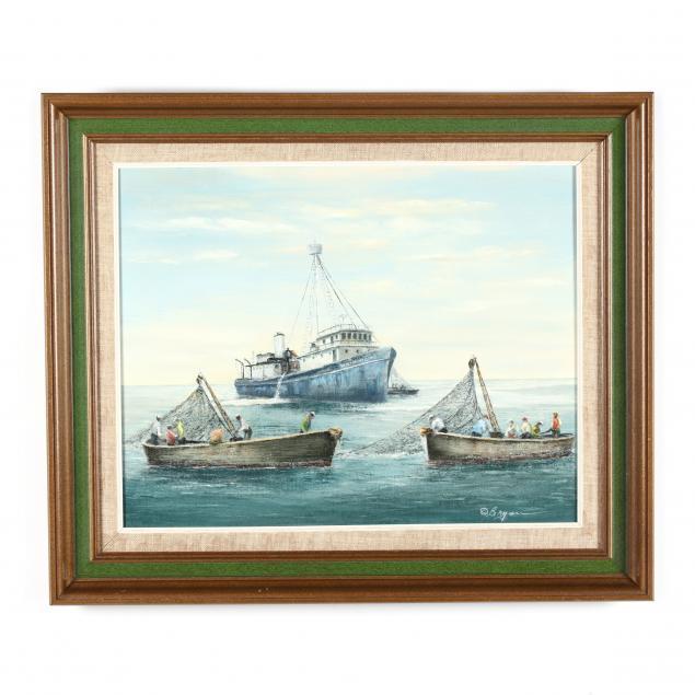 donald-bryan-american-1924-2013-maritime-fishing-scene