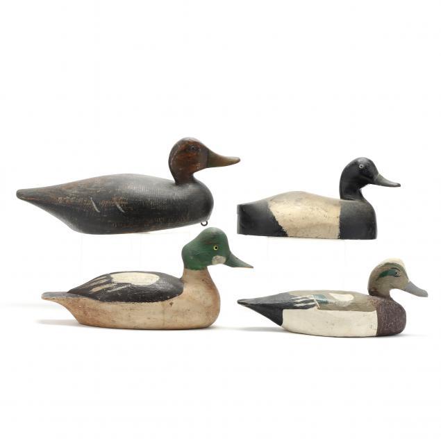 four-vintage-duck-decoys