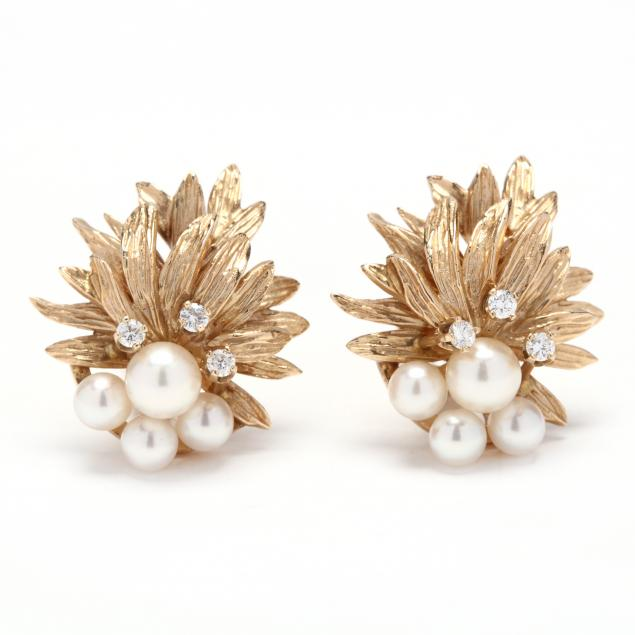 14kt-gold-pearl-and-diamond-earrings-fisher-co