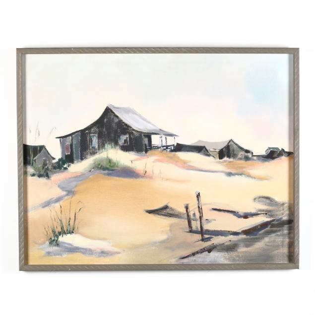 mary-alice-c-blocher-oh-1921-1996-dunescape-with-cottages