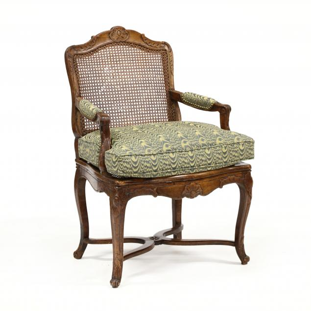 antique-louis-xv-style-carved-walnut-fauteuil