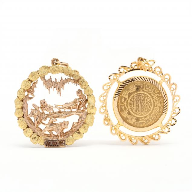 two-gold-pendants-charms