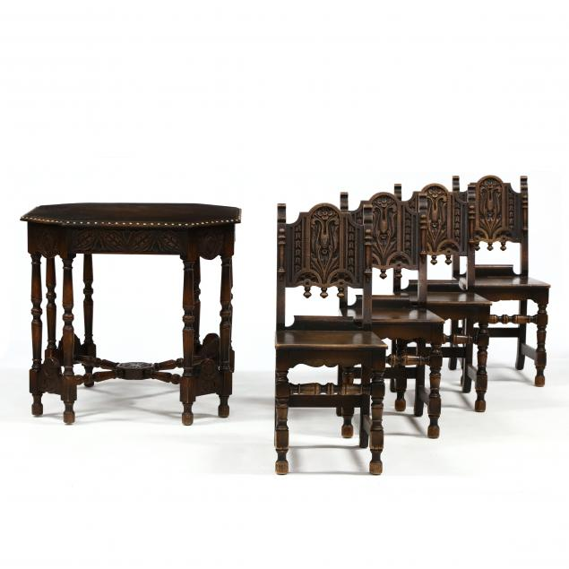 jacobean-style-game-table-and-chairs