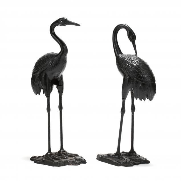 pair-of-painted-cast-iron-garden-cranes