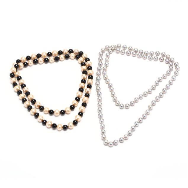 two-pearl-necklaces