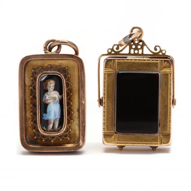 two-antique-pendants