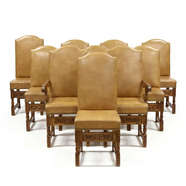 set-of-ten-jacobean-style-carved-walnut-and-leather-dining-chairs