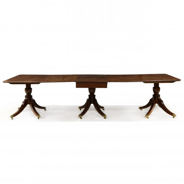 regency-style-mahogany-triple-pedestal-dining-table