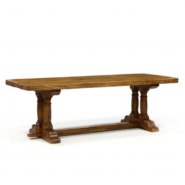 french-oak-trestle-base-farm-table