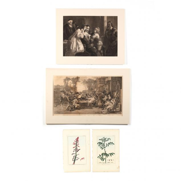 group-of-four-antique-engravings