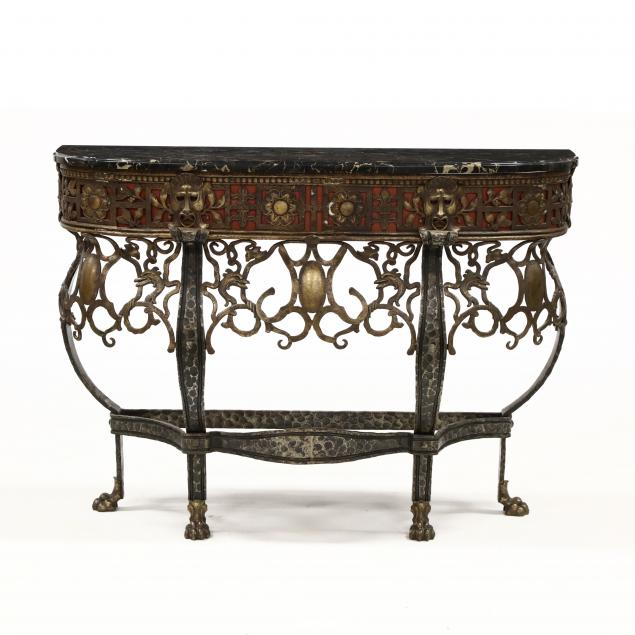 oscar-bach-marble-top-console-table