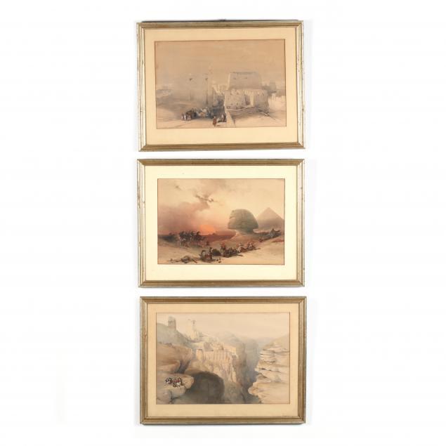 after-david-roberts-scottish-1796-1864-three-works-from-i-the-holy-land-syria-idumea-arabia-egypt-and-nubia-i