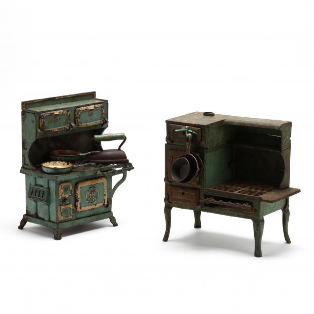 two-cast-iron-toy-cookstoves