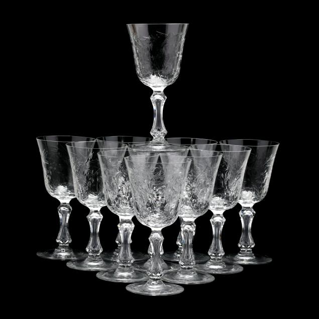 st-louis-set-of-eleven-wine-goblets