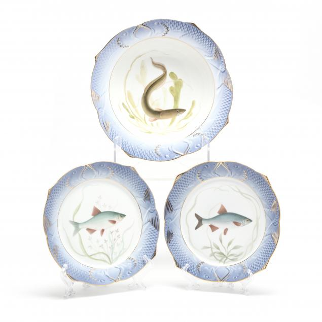 three-royal-copenhagen-fish-plates