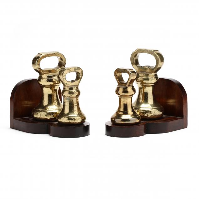 pair-of-antique-brass-weight-bookends