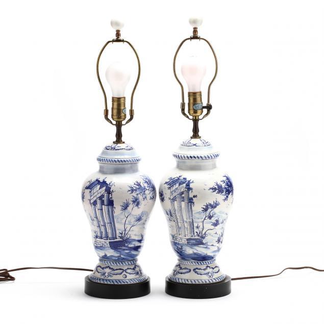 chapman-pair-of-delft-porcelain-table-lamps
