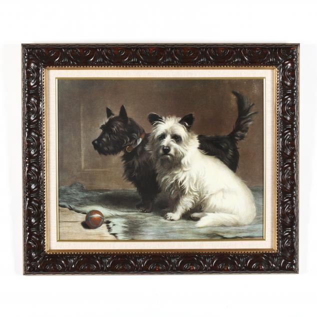 framed-print-of-two-terriers-with-a-ball