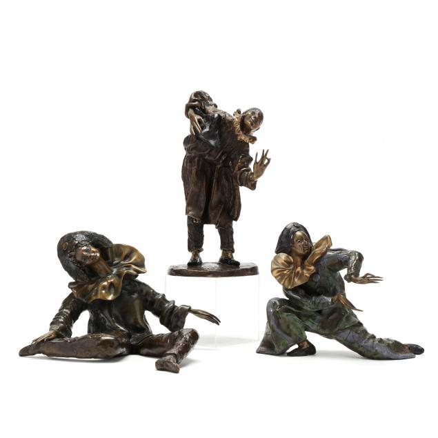 yvette-lamoureux-french-three-bronze-i-commedia-dell-arte-i-characters
