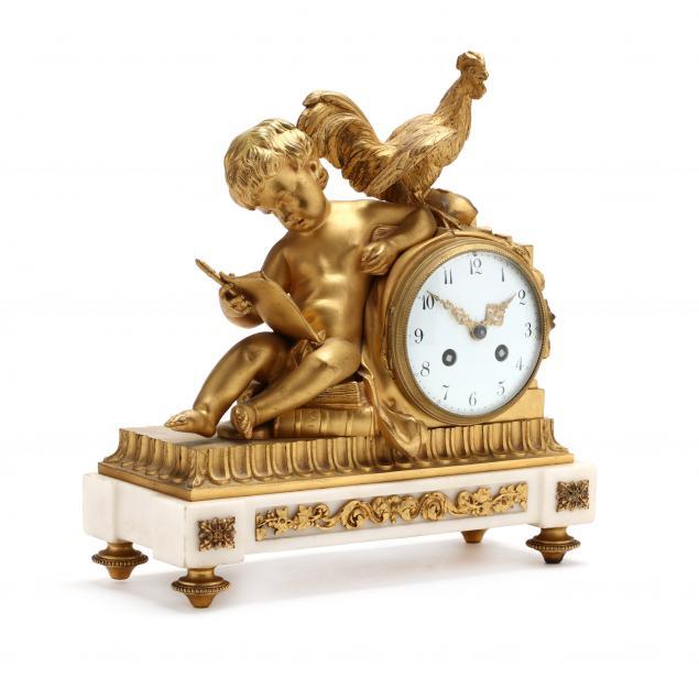 a-louis-xvi-style-gilt-bronze-mantel-clock