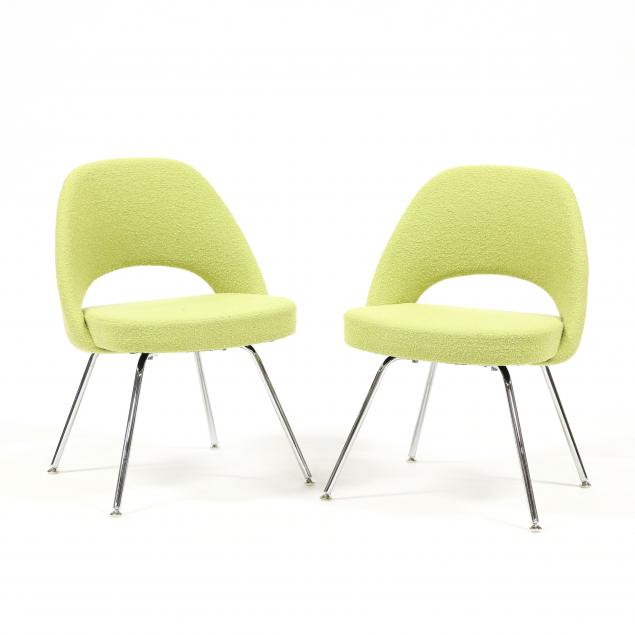 eero-saarinen-finnish-1910-1961-pair-of-executive-armless-chairs-in-chartreuse