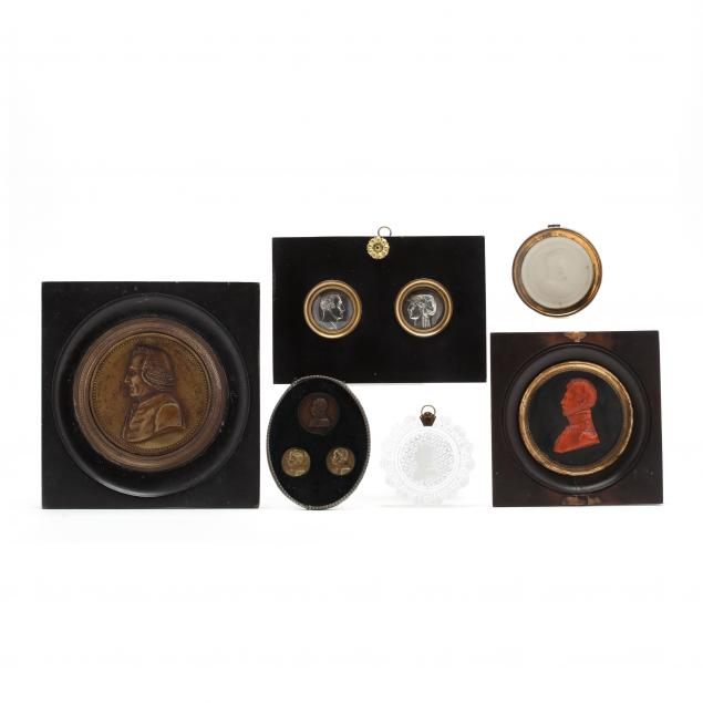 a-grouping-of-antique-portrait-medallions