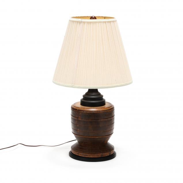 vintage-carved-wood-table-lamp
