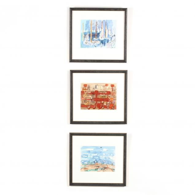 after-raoul-dufy-french-1877-1953-three-lithographs