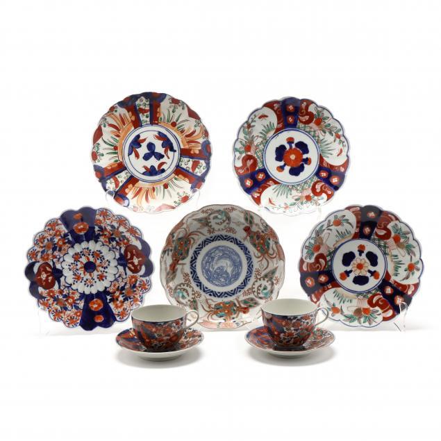 a-group-of-japanese-imari-porcelain-tableware