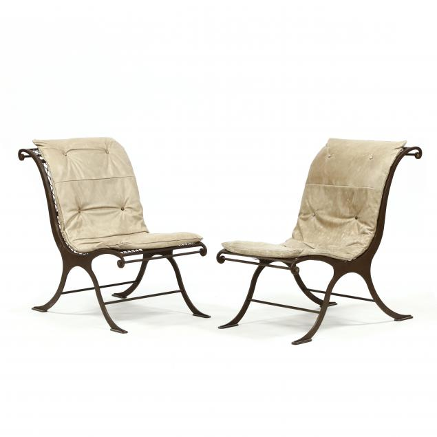 pair-of-iron-and-leather-campeche-chairs