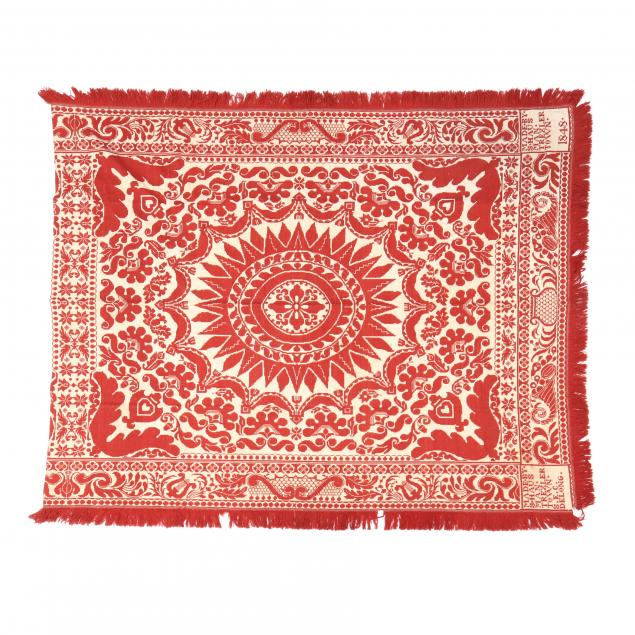 red-and-white-jacquard-coverlet
