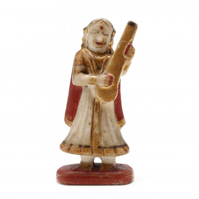 an-indian-carved-and-painted-marble-figure