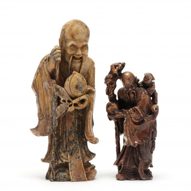 two-chinese-hardstone-carvings-of-shoulao