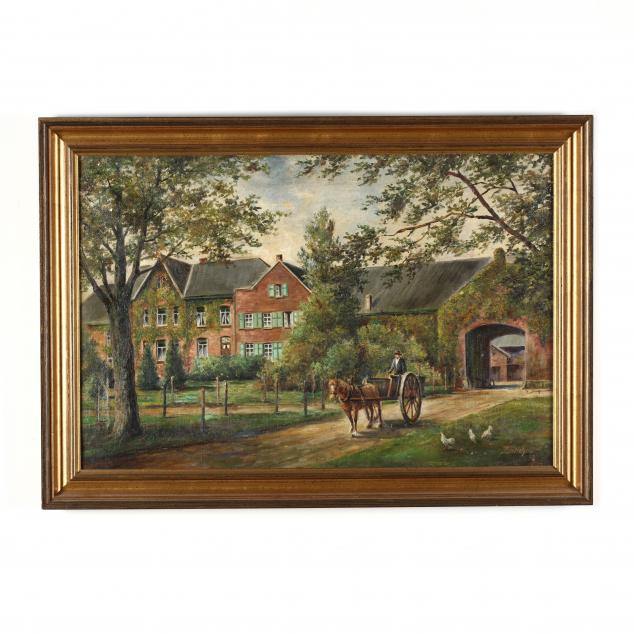 antique-painting-of-a-german-manor-house