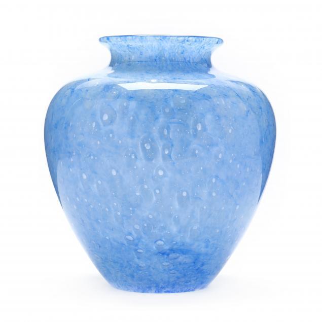 steuben-light-blue-cluthra-vase