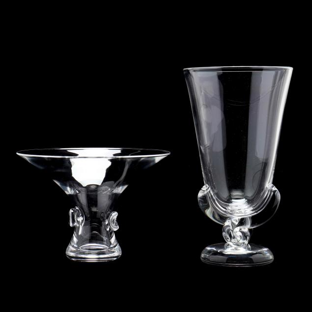 steuben-two-crystal-bouquet-vases
