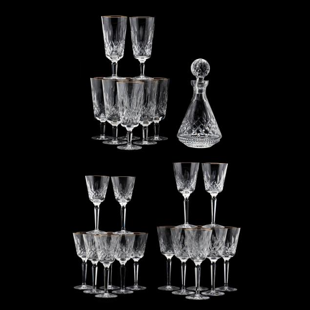 25-pieces-of-waterford-gilt-i-lismore-i-crystal-stemware