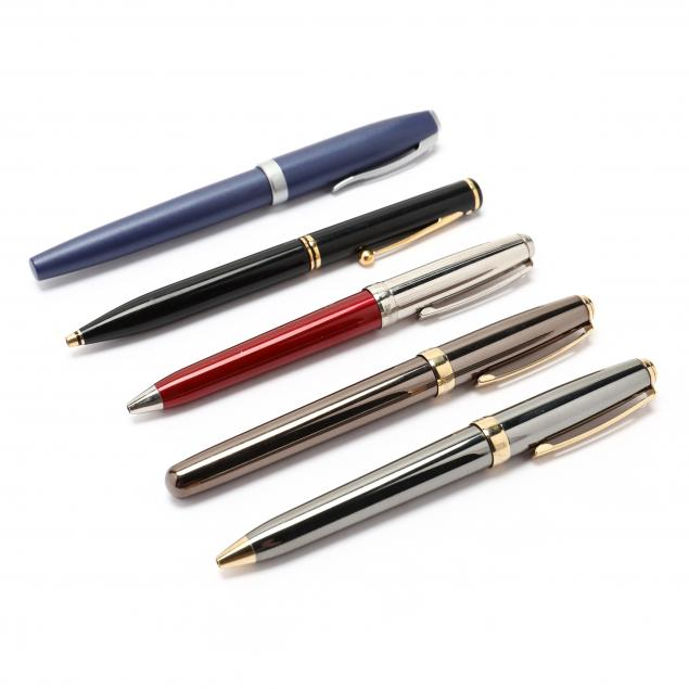 five-assorted-sheaffer-writing-instruments