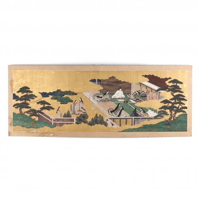a-japanese-painting-of-the-tale-of-genji-on-silk