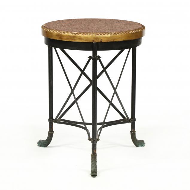 att-theodore-alexander-regency-style-granite-top-center-table