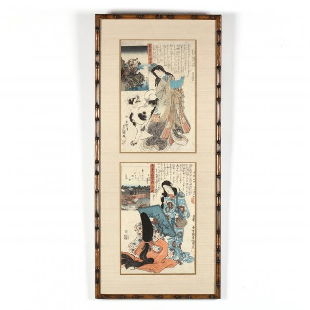 utagawa-kunisada-japanese-1786-1865-two-japanese-woodblock-prints