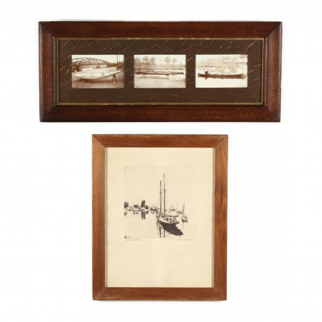 two-framed-works-featuring-boating-vessels