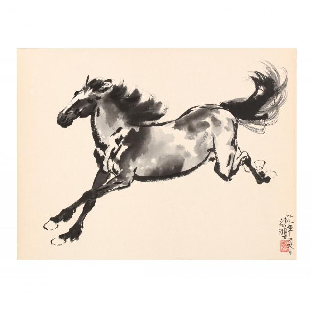 a-chinese-ink-painting-of-a-horse