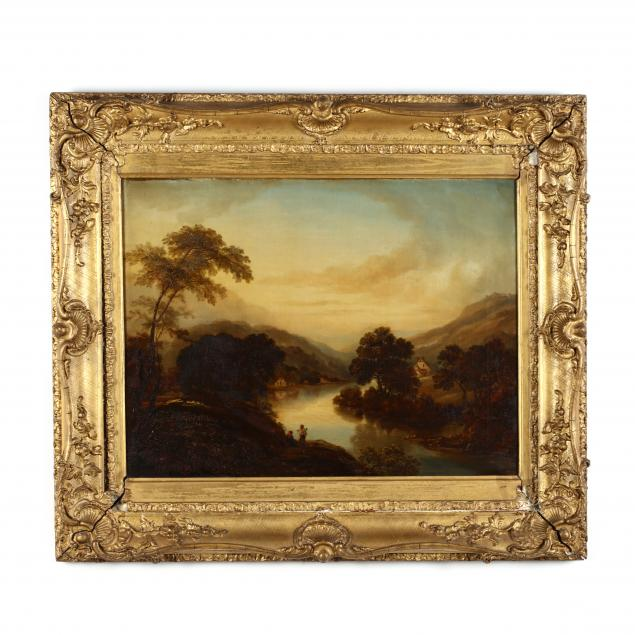 english-school-19th-century-provincial-landscape-with-figures-and-cottages