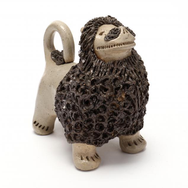 nc-folk-pottery-billy-hussey-salt-glazed-lion