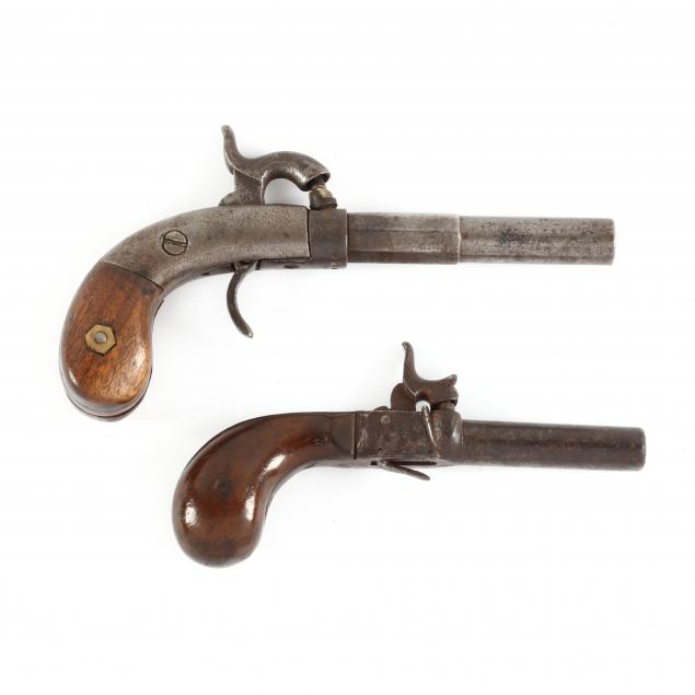 two-percussion-single-shot-boot-pistols