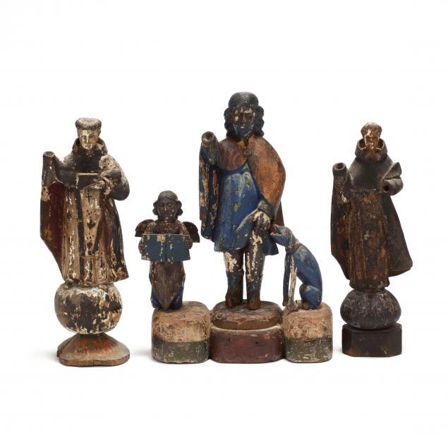 three-antique-santos-figures