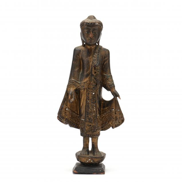 a-carved-and-gilt-wood-burmese-buddha